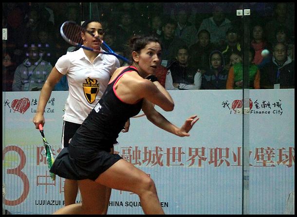 职业壁球中国公开赛半决赛 艾慧莉莉VS乔爱尔.金