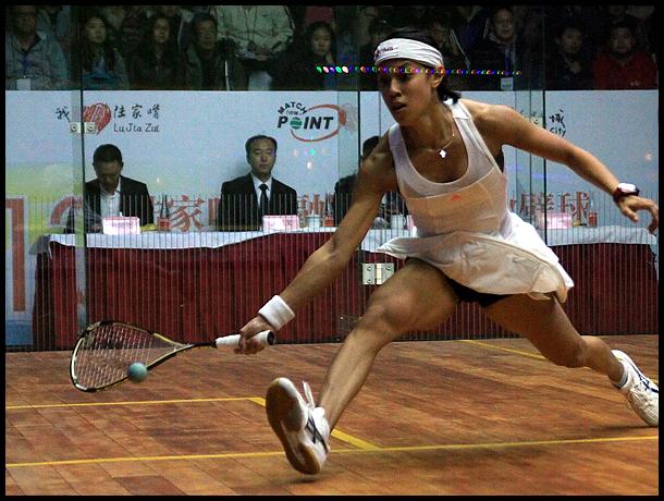 职业壁球中国公开赛决赛 妮科尔.戴维VS艾慧莉莉