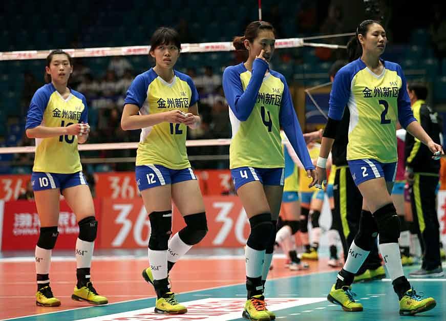 全国女排联赛第四轮 天津3比0横扫辽宁