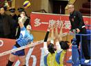 女排联赛第14轮 天津主场3比0战胜北京