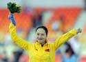 女子1000米速滑决赛 张虹勇夺金牌