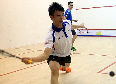 中国壁球巡回赛上海站 男子甲组�W文道VS廖浚汶
