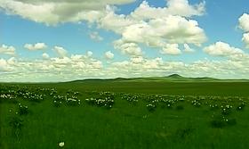 乌拉盖天边草原风光 内蒙古民族风情