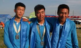 2014奥项赛内蒙古男团接受采访