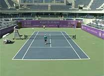 WTA女网宁波站单打颁奖仪式