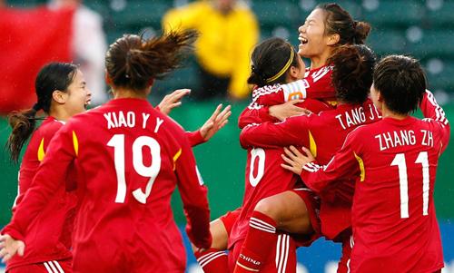 中国国青女足加拿大光荣绽放
