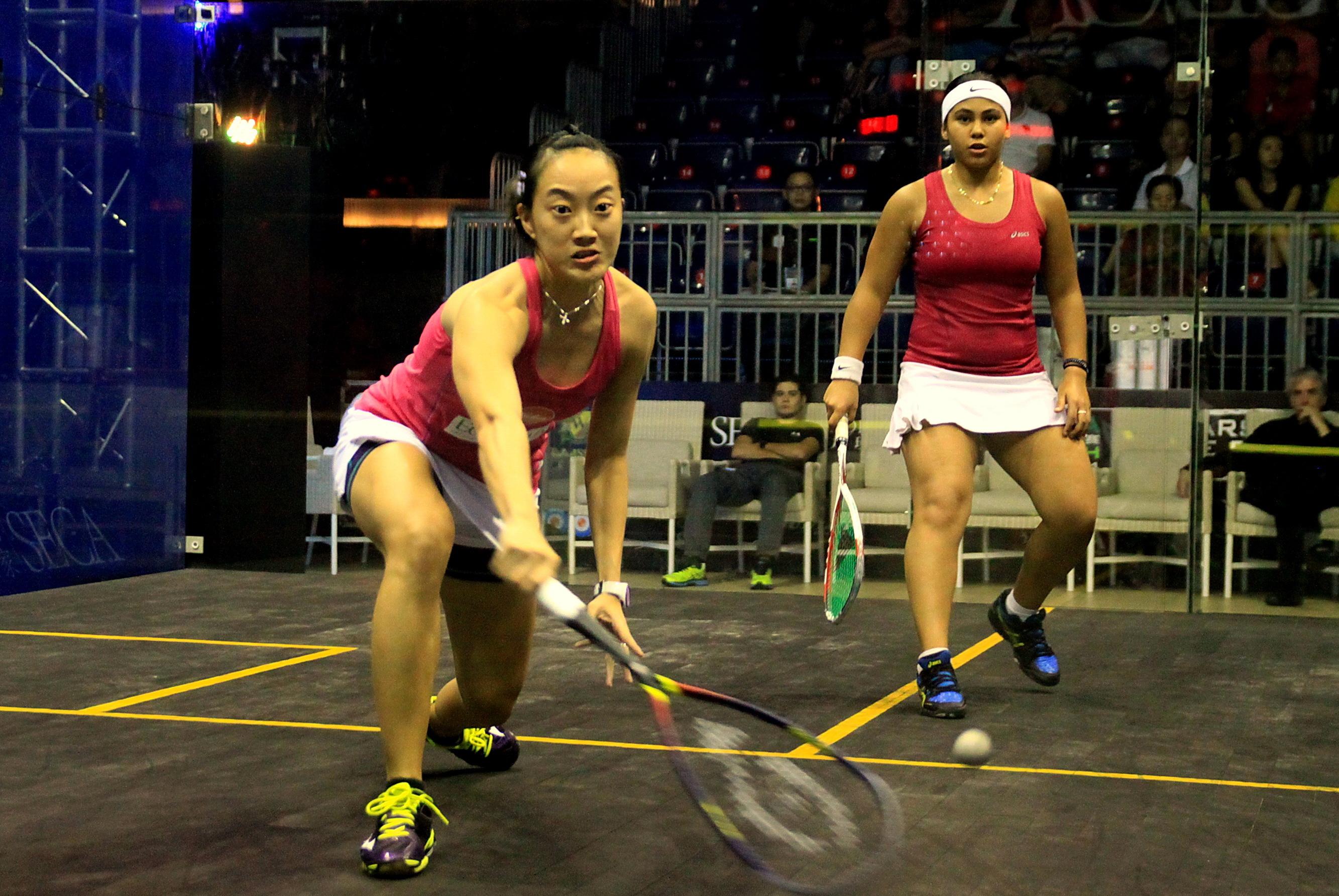 2014中国壁球公开赛半决赛 女子组比赛精彩激烈