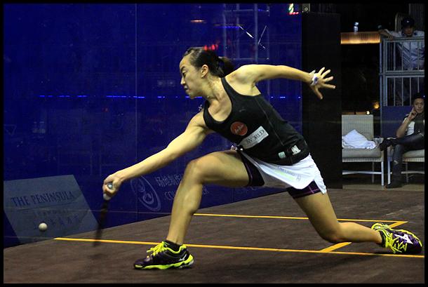 2014年中国壁球公开赛 刘薇雯VS卡米尔・塞尔梅