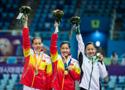 女子中国选包揽金银牌