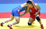 29日亚运会男子摔跤比赛 中国选手张峰无缘奖牌