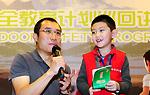 王云龙与现场小观众互动
