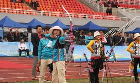 全国室外射箭锦标赛女团铜牌决赛 山东VS成都军区