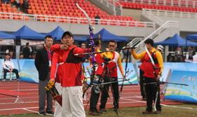 全国室外射箭锦标赛男团铜牌决赛 山东VS福建