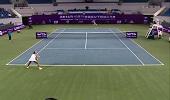 WTA网球宁波站 里纳特2-1郑赛赛
