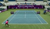 WTA宁波站女单决赛 王蔷1-2里纳特
