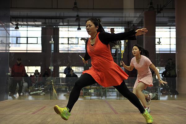 北京中国壁球挑站赛 优雅壁球展现的淋漓尽致