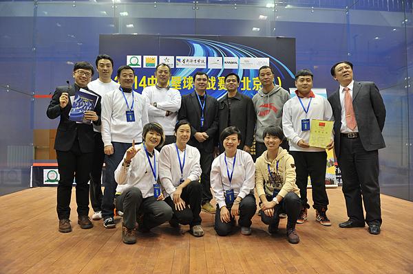 2014年中国壁球挑站赛 首都体育学院壁球馆鸣金