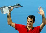 布里斯班国际网球赛夺冠 费德勒职业生涯收获千胜