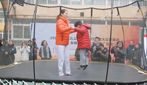 '奥运健儿公益服务行动'普及运动从娃娃抓起