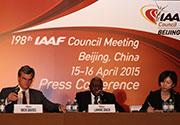 IAAF第198次理事会新闻发布会