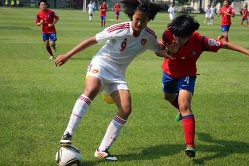 亚足联U14女足锦标赛  中国队力克日本再进决赛