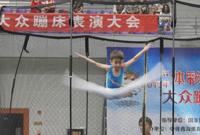 2015年首届全国幼儿大众蹦床表演大会在西宁举行