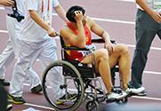 世锦赛男子110米栏 张鸿林伤退