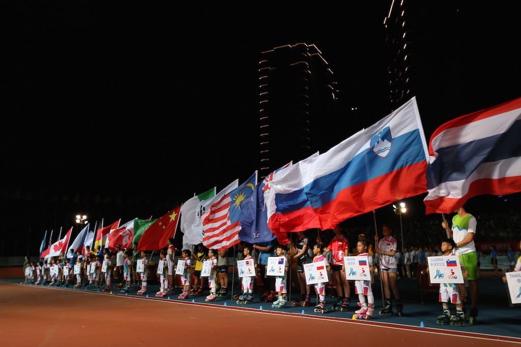 刘国永宣布开幕 2015丽水国际轮滑公开赛举行