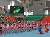 2015全民健身操舞展演晚会在青岛大学彩排预演