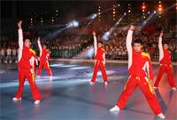 健身操舞展演晚会 健美操世界冠军的精彩表演