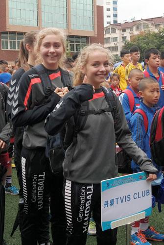 2015年两岸三地青少年手球夏令营开营_华奥男骑自行车图片