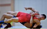 第一届青运会男子古典式摔跤赛况