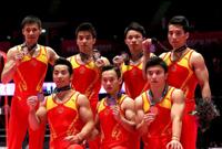 体操世锦赛:中国队男团摘铜