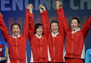 2015年世锦赛 jinniu金牛国际app夺女重团体冠军