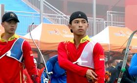 2016年全国射箭冠军赛男团1/8淘汰