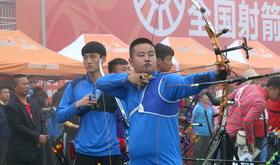 2016年全国射箭冠军赛男团1/4淘汰