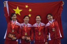 2016亚洲锦标赛中国队夺金(新华社记者韩瑜庆摄)