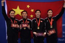 2016亚洲锦标赛中国女子花剑队获得冠军