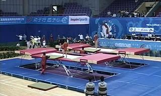 蹦床世界杯上海站同步预赛回放