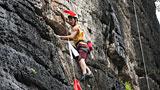 2016恩佐娱乐app下载攀岩分站赛(阳朔站)自然岩壁比赛瞬间