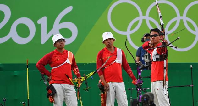 里约奥运射箭男团:中国队负澳大利亚憾居第四