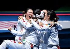 女子重剑团体赛中国晋级决赛