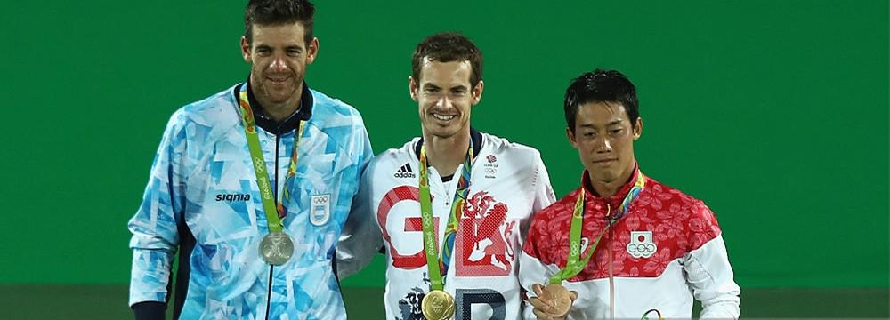 里约奥运会穆雷卫冕 波特罗锦织圭获银铜牌
