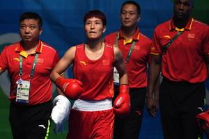 拳击女子57-60公斤级尹军花进半决赛
