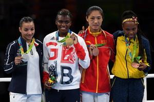 拳击女子48-51公斤级颁奖仪式