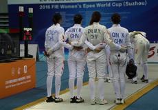 女重世界杯苏州站团体赛