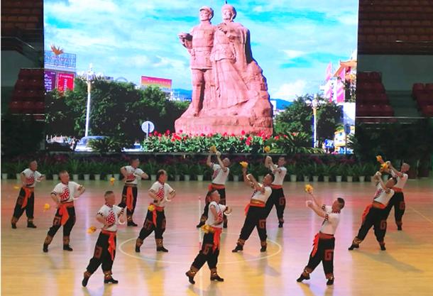 2016年全国老年人健身球操活动在云南德宏州举行