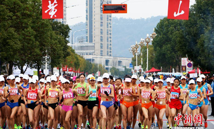 全国竞走大奖赛黄山站 王凯华创国内近五年最佳