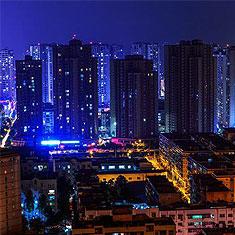 重庆开州区夜景