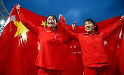 李玲蔚吕会会包揽伦敦世锦赛女子标枪二三名